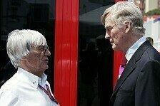 Formel 1 - Geteilte Meinung zu einem Standard-Chassis: Mosley und Ecclestone