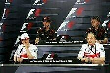 Formel 1 - Gespr�chstherapie: Pressekonferenz