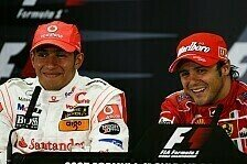 Formel 1 - Auf Augenh�he: Massa und Hamilton