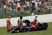 Formel 1 - B�ser Reifen, b�se Hydraulik: Toro Rosso war fr�h drau�en