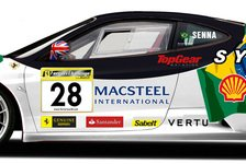 GP2 - Bruno Senna im Ferrari mit Brasilien-Design: Senna startet im Ferrari F430