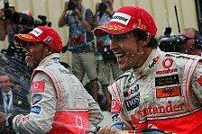 Formel 1 - Begegnung auf Augenh�he: Hamilton: Verh�ltnis zu Alonso verbessert