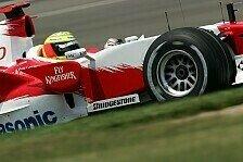 Formel 1 - Dem Verkehr ausgewichen: Gute Laune bei Toyota