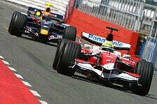 Formel 1 - Schumacher gibt dem Toyota die Sporen: Silverstone, Tag 1
