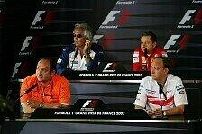 Formel 1 - Die Lehren der PK: Freitags-Pressekonferenz