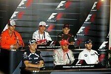 Formel 1 - Vier Deutsche, ein �sterreicher und Lewis Hamilton in der Hocheifel: Die Donnerstags-Pressekonferenz