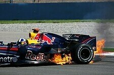 Formel 1 - Video: Showrun: Red Bull f�ngt Feuer!