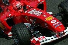 Formel 1 - Wenige Zylinder, maximale Power: Schumachers Lieblingsauto