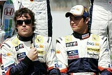 Formel 1 - Arbeiten gut zusammen: Alonso erkl�rt Piquet wie man f�hrt