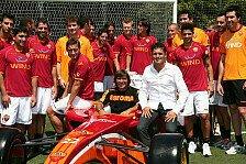 Superleague - Fisichellas Traum wird wahr: Fisichella setzt Auto des AS Rom ein