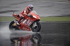 MotoGP - Zweifel an einem sicheren Rennen: Sogar Stoner war es zu nass