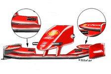 Formel 1 - Rote Str�mungshilfe: Hohe Nase bei Ferrari