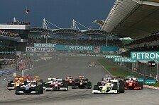 Formel 1 - Nass und dunkel: Malaysia GP - Button siegt bei Abbruchrennen