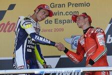 MotoGP - Weiter ein harter Rivale: Rossi warnt davor Stoner abzuschreiben
