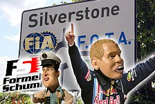 Formel 1 - Schumi hat die Lösung: Video-Highlights 2009: Satire-News Silverstone GP