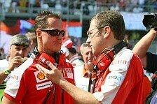 Formel 1 - Familie will Privatsph�re wahren: Domenicali: Schumacher mit stetigen Fortschritten
