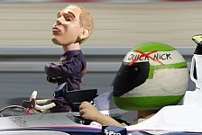 Formel 1 - Fahrrad �berholt F1-Auto : Video-Highlights 2009: Satire-News Abu Dhabi GP