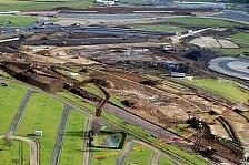 Formel 1 - Team arbeitet rund um die Uhr: Silverstone: Strecke kurz vor Fertigstellung