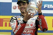 Superbike - Fabrizio dachte, er habe gewonnen: Gute Stimmung im Ducati-Werksteam
