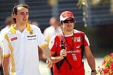 Formel 1 - Es ist hart f�r ihn: Alonso zweifelt an Kubicas F1-R�ckkehr