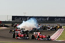 Formel 1, Bahrain 2010: Lange Streckenvariante verfehlte Ziel