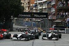 Formel 1 - Transporter bei St. Devote ausgebrannt: Monaco: Streckensch�den in Kurve 1