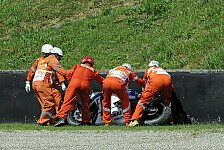 MotoGP - Bilder der Strecken-Kamera: Video - Der Rossi-Crash