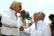 Formel 1 - Der Club der Milliard�re: Ecclestone & Branson gleichauf