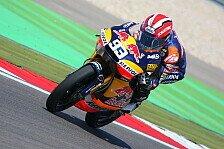 Moto3 - Es ging nass los: Marquez nach Sturz zur Bestzeit