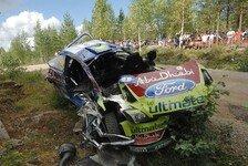 WRC - Sichere Boliden vehindern schwere Verletzungen: Video - Die spektakul�rsten Unf�lle in Finnland