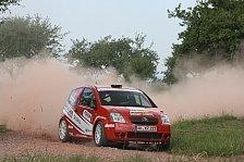 DRM - Lars Mysliewietz gl�cklich im Ziel: Zufriedenheit im Team nach der Saarland Rallye