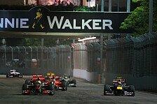 Formel 1 - �berholen auf dem Boulevard: DRS-Zone in Singapur nach Turn 5