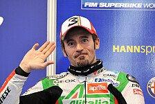 Superbike - Max f�hrt die Krallen aus: Aprilia-Test in Aragon