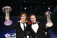 Formel 1 - Ein unglaublicher Abend: Vettel erh�lt Weltmeisterpokal
