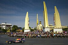 Formel 1 - Zu Ehren des K�nigs: Video - Red Bull Demo Run in Bangkok