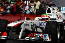 Formel 1 - Action in der Stadt: Video - Perez mit Demorunden in Mexiko