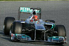 Formel 1 - Stecken nicht in Schwierigkeiten: Mercedes freut sich �ber Schumacher-Bestzeit
