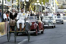 DTM - 125. Geburtstags des Automobils: Mercedes-Fahrer beim Geburtstags-Auto-Corso