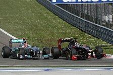 Formel 1 - Muss ich wahrscheinlich auf meine Kappe nehmen: Schumachers Rennen nach Kollision fr�h ruiniert