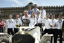 DTM - Sportstars gratulieren: Geburtstags Autocorso in Stuttgart