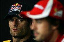 Formel 1 - M�ssen Vorsprung zunichte machen: Alonso hofft auf Hilfe von Webber