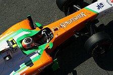 Formel 1 - Aerodynamik-Test in Mittelengland: H�lkenberg f�r Force India im Einsatz