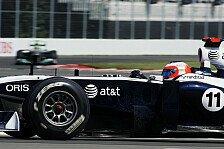 Formel 1 - Williams will in Valencia mit beiden Autos Punkte: Barrichello: Gute Traktion ist wichtig