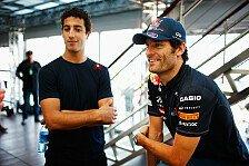 Formel 1 - Ricciardo auf lange Sicht aufbauen: Webber: Zukunft h�ngt von Motivation ab