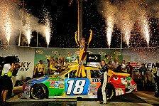 NASCAR - Sieg und Tabellenf�hrung nach dominantem Rennen: Kyle Busch siegt beim Kentucky-Deb�t