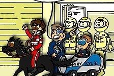 Formel 1 - R�ckfall in alte Zeiten: Neuer Comic: Todt setzt den Hebel an