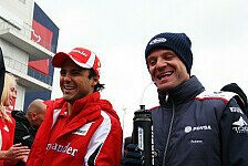 Formel 1 - Barrichello: Hoffentlich kämpft Massa um den Titel