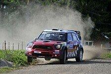 WRC - Beide Piloten stehen unter Strom: Mini: Mit erstem Tag zufrieden