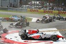 Formel 1 - R�ckversetzung in Singapur: Liuzzi: Strafe f�r den Start-Crash
