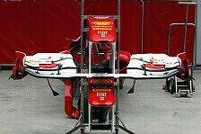 Formel 1 - Daten stimmen �berein: Ferrari mit neuem Frontfl�gel zufrieden